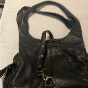 Black leather Botkier bag